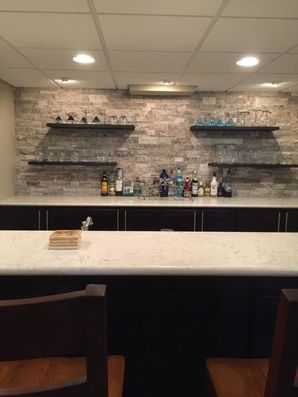 Finished Basement with Bar in Troy, MI (2)