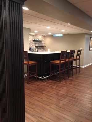 Finished Basement with Bar in Troy, MI (1)