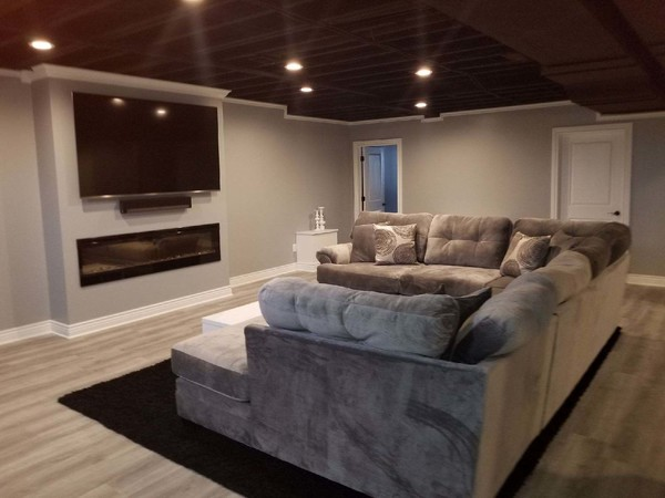 Finished Basement in Bloomfield Hills, MI (1)